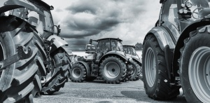 farming tractor line-ups, plows and machinery